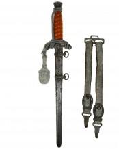 Heeres-Offiziersdolch [M1935] mit Portepee und Gehänge – Original Eickhorn Solingen