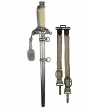 Army Officer's Dagger with Hangers by SMF Solingen