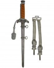 Army Officer's Dagger [M1935] with Hangers, Portepee by WKC Solingen