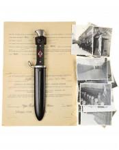 HJ Fahrtenmesser [Mittlere Fertigung] mit Motto – RZM M7/66 (Carl Eickhorn Solingen)