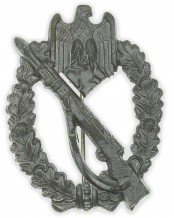Silver Grade Infantry Assault Badge by Sohni Heubach & Co. Oberstein (S.H.u.Co.)