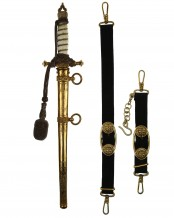 Imperial Naval Dirk [M1905] with Hangers & Knot by WKC Solingen