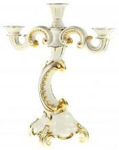 Kerzenleuchter - 3 kerzig vergoldet (Allach Nr. 15) – Franz Nagy