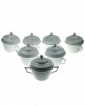 KPM фарфор сервиз: Чаша для супа с крышкой - KURLAND 00 белый