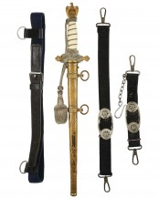 Navy Officer Dagger [2nd Model] with Hangers by WKC Solingen
