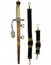 Navy Officer Dagger [M1938] with Hangers & Knot by Eickhorn Solingen