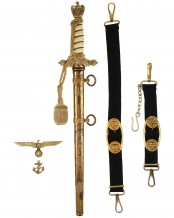 Navy Officer Dagger [2nd Model] with Hangers by F.W. Höller Solingen