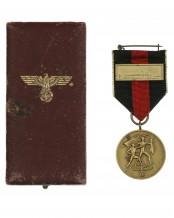 Medaille zur Erinnerung an den 1. Oktober 1938 im Etui