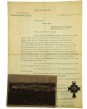 Ehrenkreuz der deutschen Mutter, Dokument und Foto