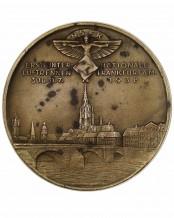 NSFK bronzene Erinnerungs-Medaille: Mittelrheinischer Rundflug Frankfurt a.M. 1938