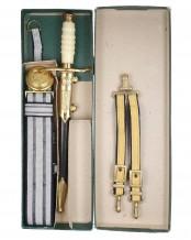 NVA Offiziersdolch mit Gehänge und Koppel #1006