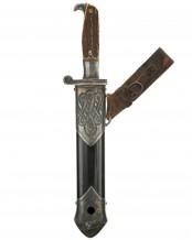 RAD Enlisted Mans Hewer with hanger [M1934] by Carl Eickhorn, Solingen