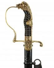 German Lion Head Officer's Sword by Carl Eickhorn Solingen