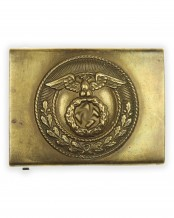 SA [Sturmabteilungen] Enlisted Man's Belt Buckle with Sunwheel Swastika