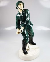German Wehrmacht Soldier by Karl Ens Porcelain