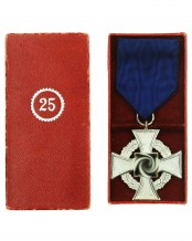 Faithful Service Medal 25 in a case by Wächter & Lange Mittweida