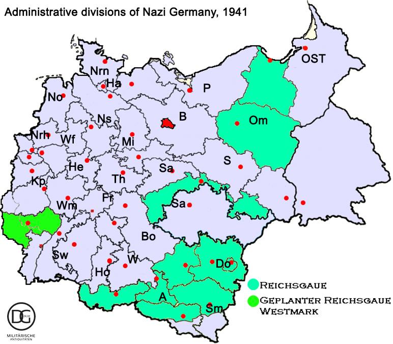 Gaue der NSDAP - Reichsgaue